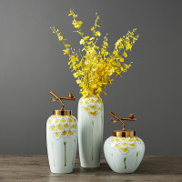 Ceramic Vase Decoration Home Decoration Simple Modern Dry Flower Flower Arrangement Ornament