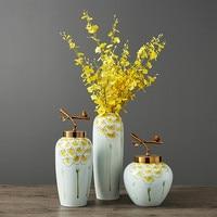 Ceramic Vase Decoration Home Decoration Simple Modern Dry Flower Flower Arrangement Ornament