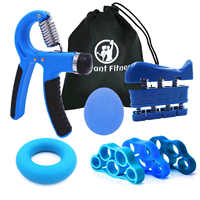 Hand Grip-stärkungsmittel Workout Kit Einstellbare Hand Greifer Ring Finger Exerciser Band für Rehabilitation und Stress Relief Ball