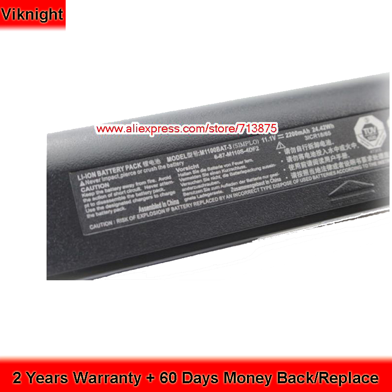 Original Clevo M1100BAT-3 Laptop Battery For Clevo M1100BAT-3 Battery M1100 M1110 M1111 M1115 6-87-M110S-4D41 6-87-M110S-4DF clevo p150hmbat 8 battery for p150em 6 87 x510s 4d72 6 87 x510s 4d73 x510s eon17 s clevo laptop batteries