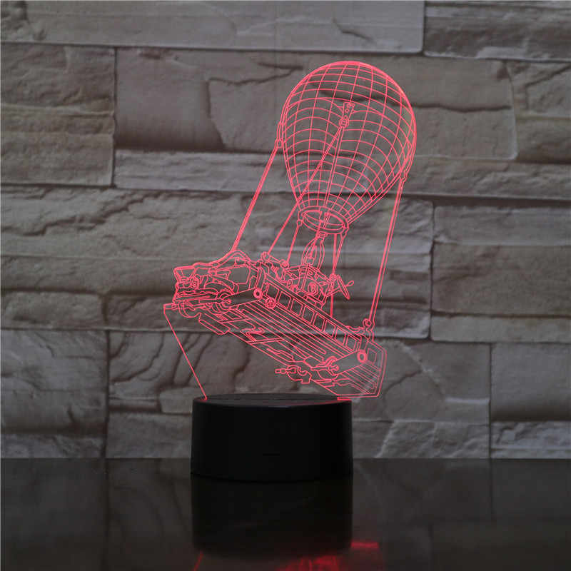 VCity לילה אור פלאש תאורה אוויר חם בלון עד אוהדי סרט ילדים מתנות 3D אשליה Led RGB שינה דקור יום הולדת הווה