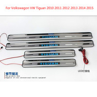 For Volkswagon Tiguan 2010 2011 2012 2013 2014 2015 With Blue LED light High quality stainless steel Scuff Plate/Door Sill