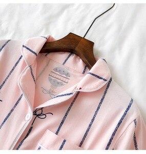 Image 4 - Pyjamas Sets für Frauen 2019 Sommer Mode Nachtwäsche Freizeit Haus Tuch frau kurzarm baumwolle pyjama Mädchen Nachtwäsche Set