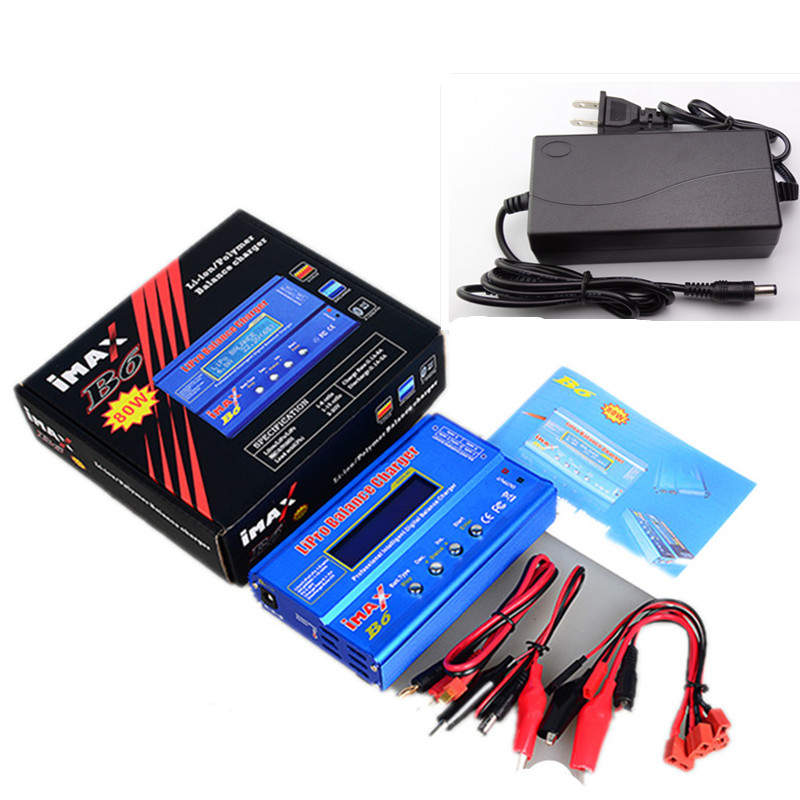 Factory Wholesale Original AKASO  IMAX B6 Digital RC Lipo NiMh Battery Balance Charger With AC POWER 12v 5A Adapter ocday 1set imax b6 lipo nimh li ion ni cd rc battery balance digital charger discharger new sale