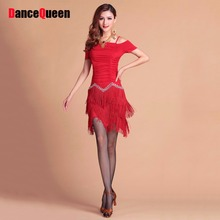 2017 Sexy Adult Women Latin Dance Dress&Leggings Crystal Tassel Decorated Latino Paso Doble Tango Performance Costumes DQ3032