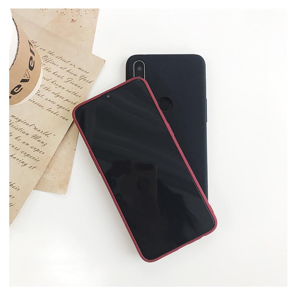 for LECAYEE Redmi Note 7 Matte Case Cover Redmi Note 5A Prime In Fitted Silicone Phone Case redmi 6 pro 6a 5 5a 4x s10 case (12)