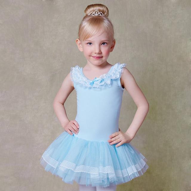 340ed4e1a 100 130cm Pink Blue Girl Tutu Dresses Princess Kid Ballet Practice ...