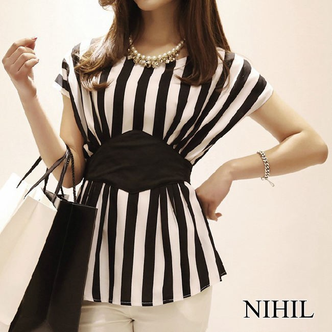 HTB1aiyHFVXXXXXuXpXXq6xXFXXXq - New Spring Striped Print Chiffon Women Blouses Casual Tops Shirt