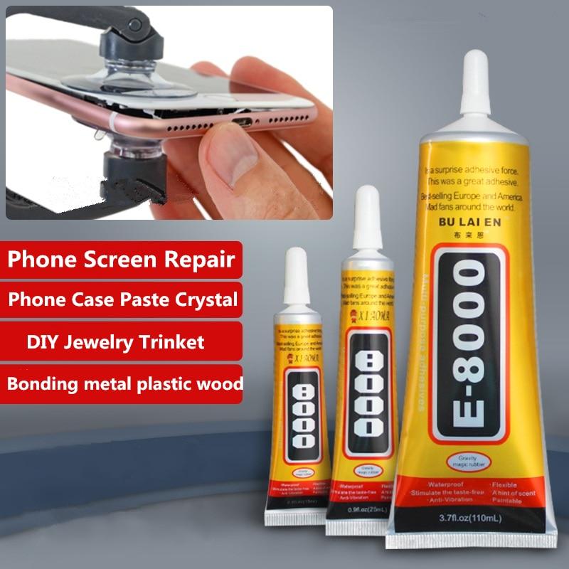 E8000 110ml Liquid Glue Super Strong Multipurpose Adhesive Jewelry Crafts Crystal Rhinestone DIY Fix Phone Screen Glass Nail Gel