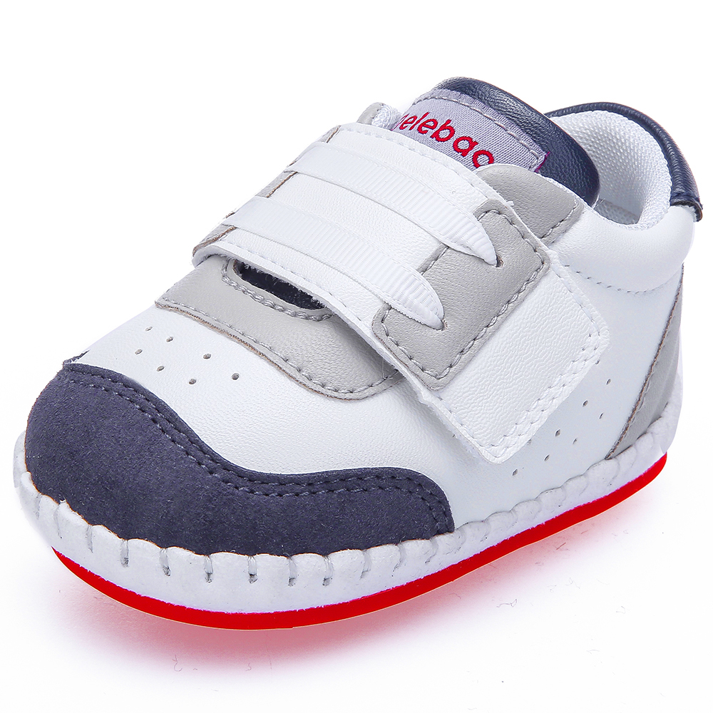 Delebao 2018 New Fashion Outdoor Sport Baby Shoes 0-24 Months Infant Toddler Rubber First Walkers PU All Seasons Toddler Shoes