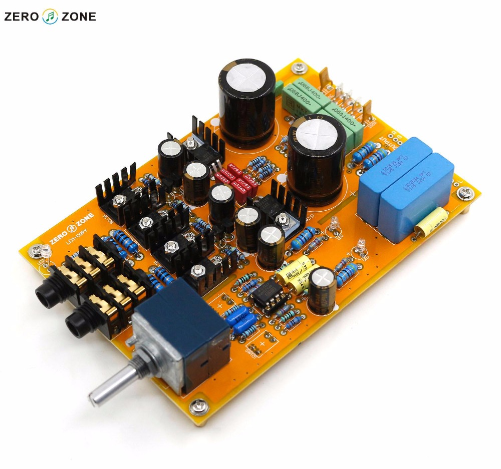 High configuration with potentiometer version LEM COPY reference Lehmann Lehmann Linear headphone amplifier finished board