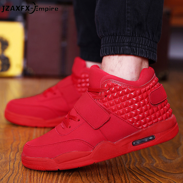 b617dc7f1 2018 New Fashion Spring Lover Red Shoes Men Casual Hook Loop Shoes High Top  Low Shoes