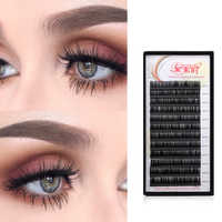 NEWCOME 3D Individual Lash Extension 100%Handmade Natural Volume Silk Eyelashes 0.05-0.25 Thick Eye Lashes Makeup Professional