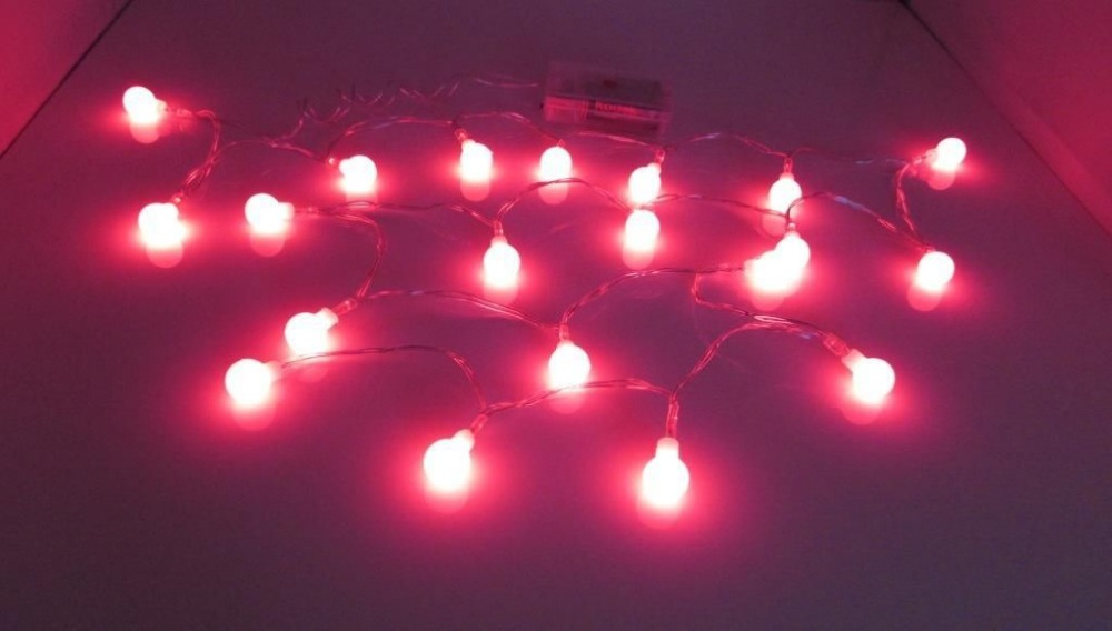 Uk Er Battery Operated Berry Ball Pendant Light In Red Led 2m Fairy Lights