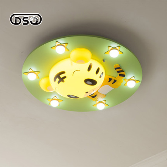 DSQ.Children Room Lamp Creative LED Ceiling Lamp Cartoon Animal Bedroom Lamp Romantic Kindergarten Lamps