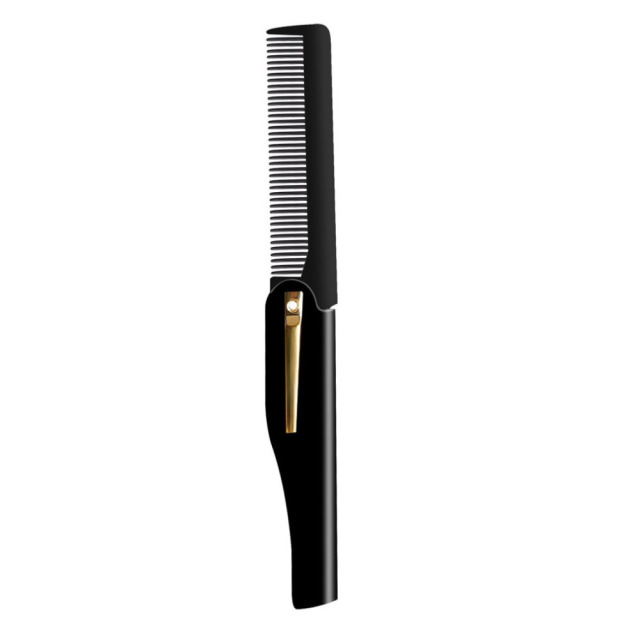 Men Pro hairbrushes Comb Brush Handmade Folding Clip Foldable Portable Travel Hair Moustache Beard Combs hairHairdressing Tools 1