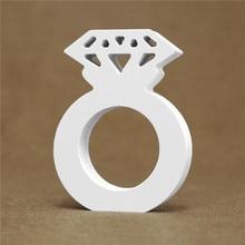 Толстые 12 мм белые деревянные буквы Английский алфавит слово индивидуальное имя дизайн искусство Крафтовая стойка сердце форма Свадебный домашний декор