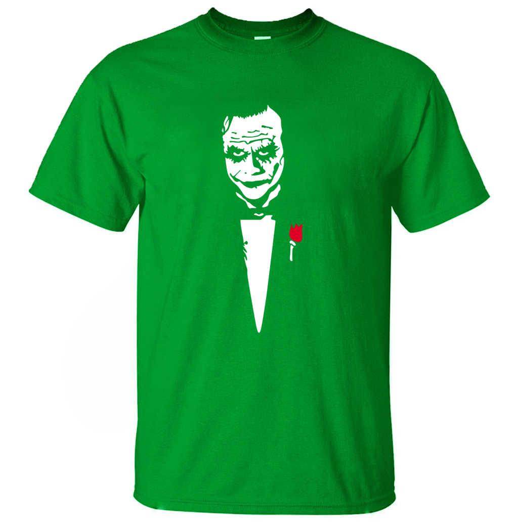 Джокер Хит Леджер почему так много крутая футболка для мужчин 2019 Лето Панк короткий рукав Футболка хлопок высокое качество Camiseta Masculina