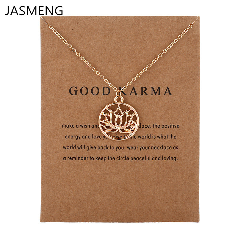 Get This Fashion Jewelry New Arrived Good Karma Buddha Lotus Pendant