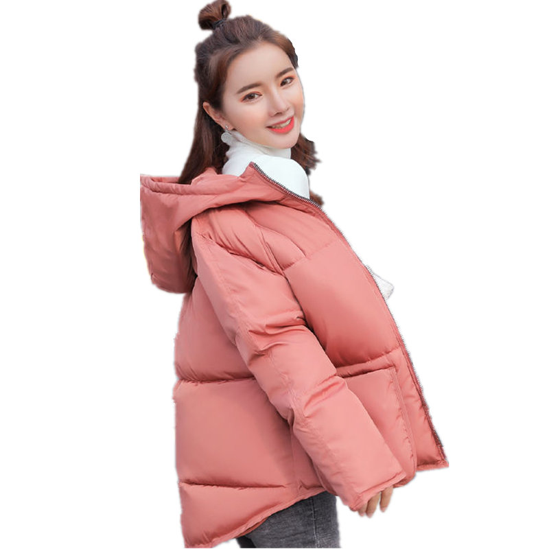 Autumn Winter Jacket Women Coat Parka Warm Thick Short Jacket Outerwear Plus Size Jaqueta Feminina Long Sleeve Hooded Coats Q810