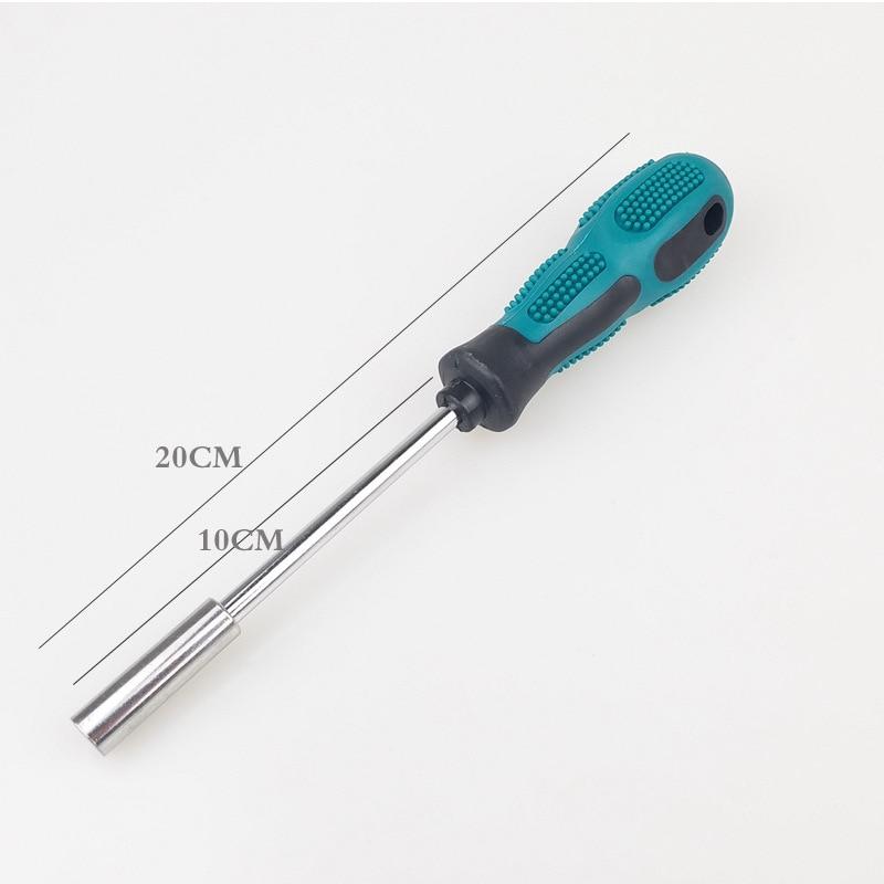 Chave de fenda 1/4 batch cabeça punho forte magnético manga vento lote hex conversor 6.35mm