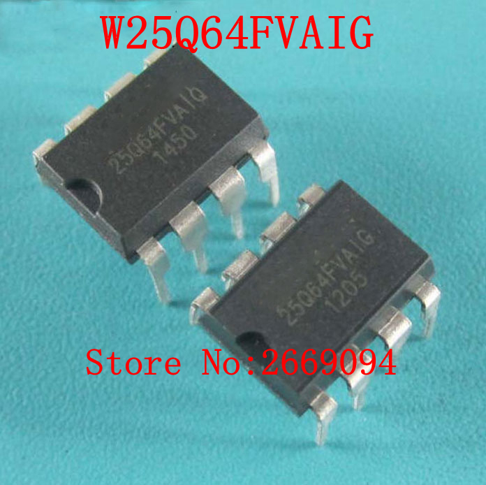 50pcs 100pcs W25Q64FVAIG W25Q64 25Q64FV DIP memory IC New Original Free Shipping