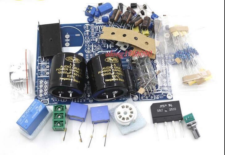 GZLOZONE HIFI Vacuum tube 6N3 Preamp + TDA7294 Power Amplifier Kit DIY  80W+80W L3-65