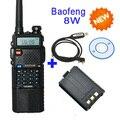 3800 мАч Батареи Baofeng PTT 8 Вт Dual Band V/UHF Хэм двусторонней Радиосвязи Walkie Talkie Трансивер UV-8HX, уф-5re plus + кабель для программирования