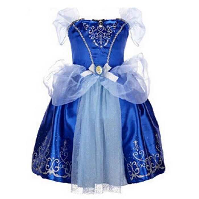 Original Princess Snow White Cinderella Dresses Costumes: Girls Dress Cinderella Snow White Princess Dresses For