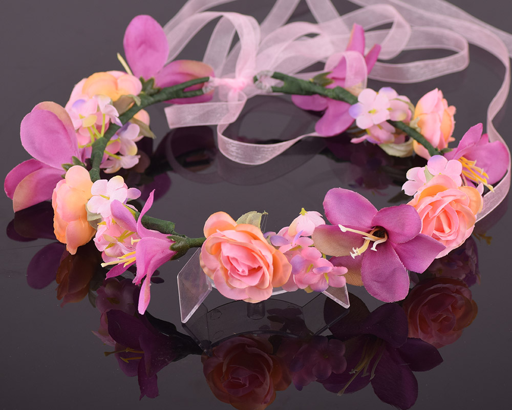 Online buy wholesale dried jasmine flowers from china dried cxadditions adjustable bridal floral crown hair wreath tiara breath dried lily breath jasmine flower hairpiece headdress dhlflorist Gallery