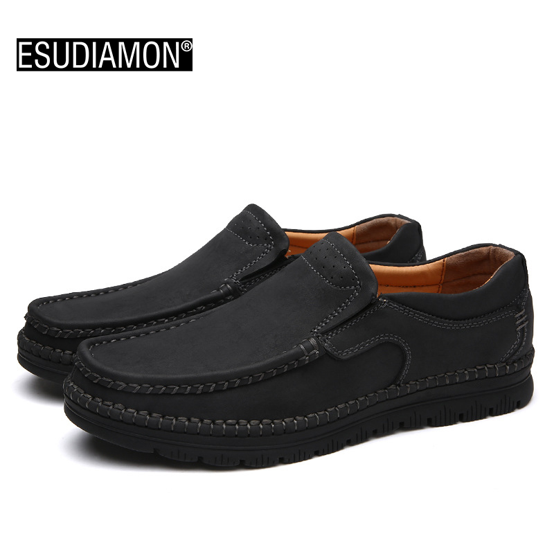2017 New Genuine Leather Men Flats Driving Soft Leather Men Moccasins Brand Men Shoes Loafers Comfortable Slip On Shoe handmade genuine leather men s flats casual haap sun brand men loafers comfortable soft driving shoes slip on leather moccasins