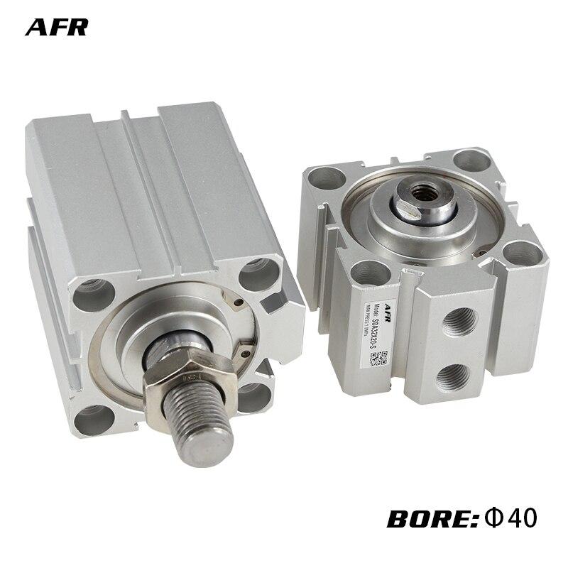 SDA16 Com magent atuador compacto duplo efeito cilindro pneumático Ar Feminino/masculino furo rosca 16 milímetros avc SDA16X5/ 10/20/25/30