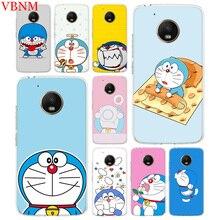 Doraemon A Blue Silicone TPU Patterned Case for Motorola G5 G5S G6 E4 E5 G7 Plus Moto G4 Play New Customized Cases Coque