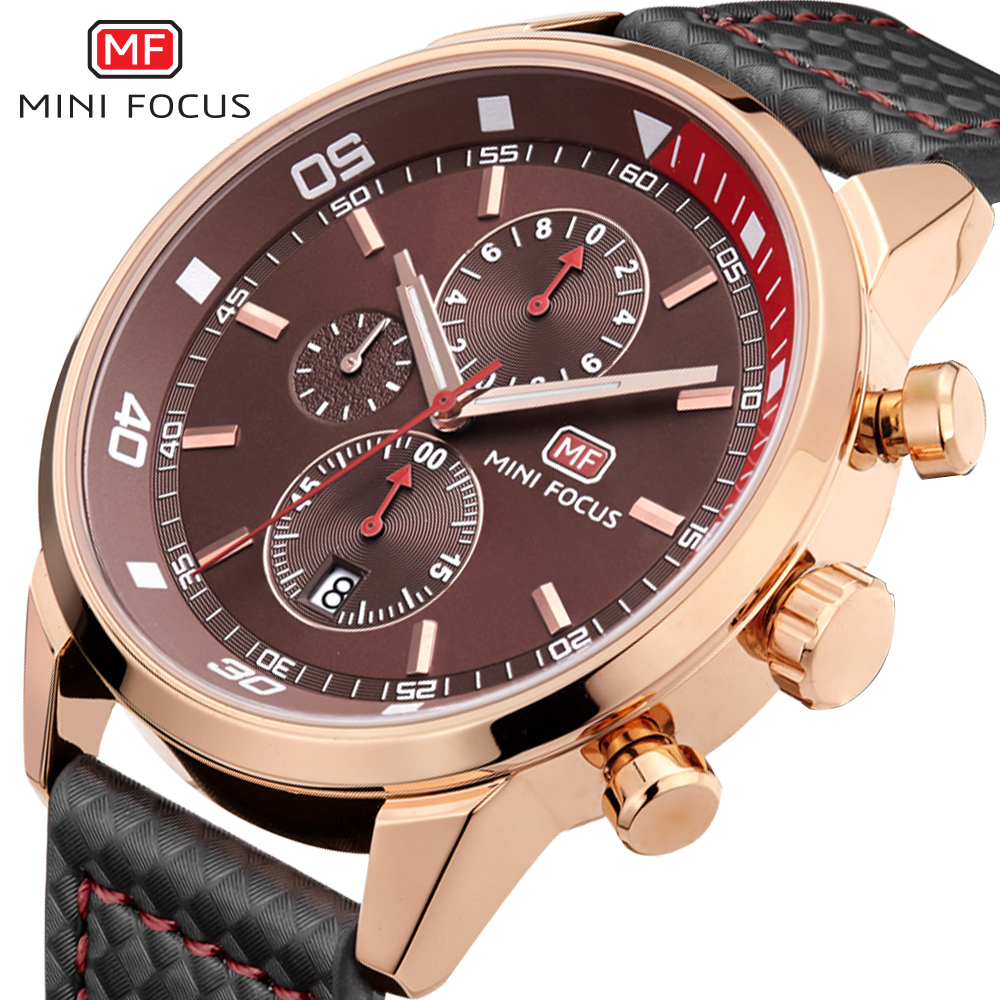 MINIFOCUS Military Watch Men Waterproof Sport Watch Top Brand Luxury Clock Men Leather strap Dive Watches For Mens reloj hombre mens watches top famous brand wwoor luxury male quartz watch leather strap waterproof men wristwatch clock reloj hombre
