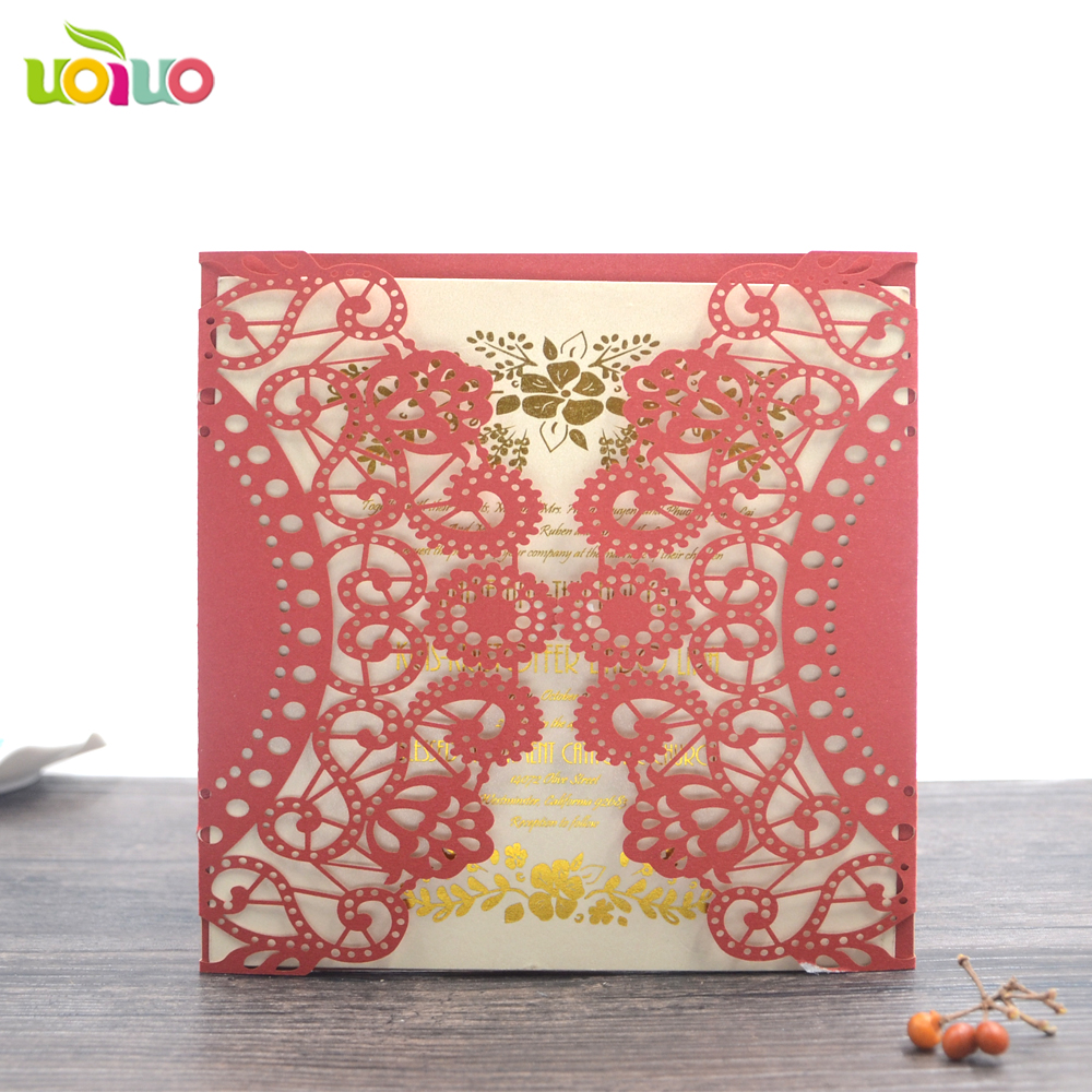 laser cut wedding invitation card royal wedding invitations card-in ...
