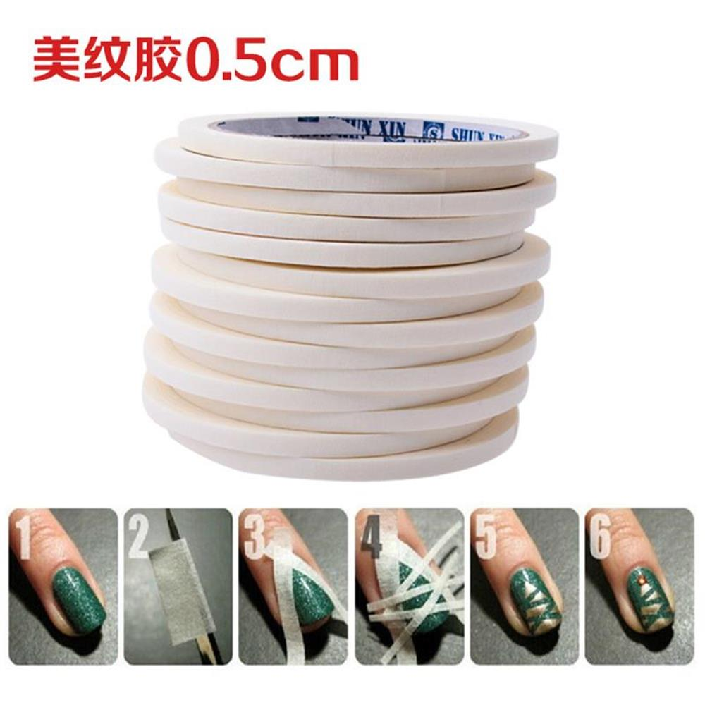 1pcs Nail Art Adhesive Tape 0.5cm * 7m Creative Design Nail Stickers,Strong Sticky Glue for DIY Nail Gel Polish Tools pir motion sensor alarm security detector wireless ceiling can work with gsm home alarm system 6pcs cpir 100b