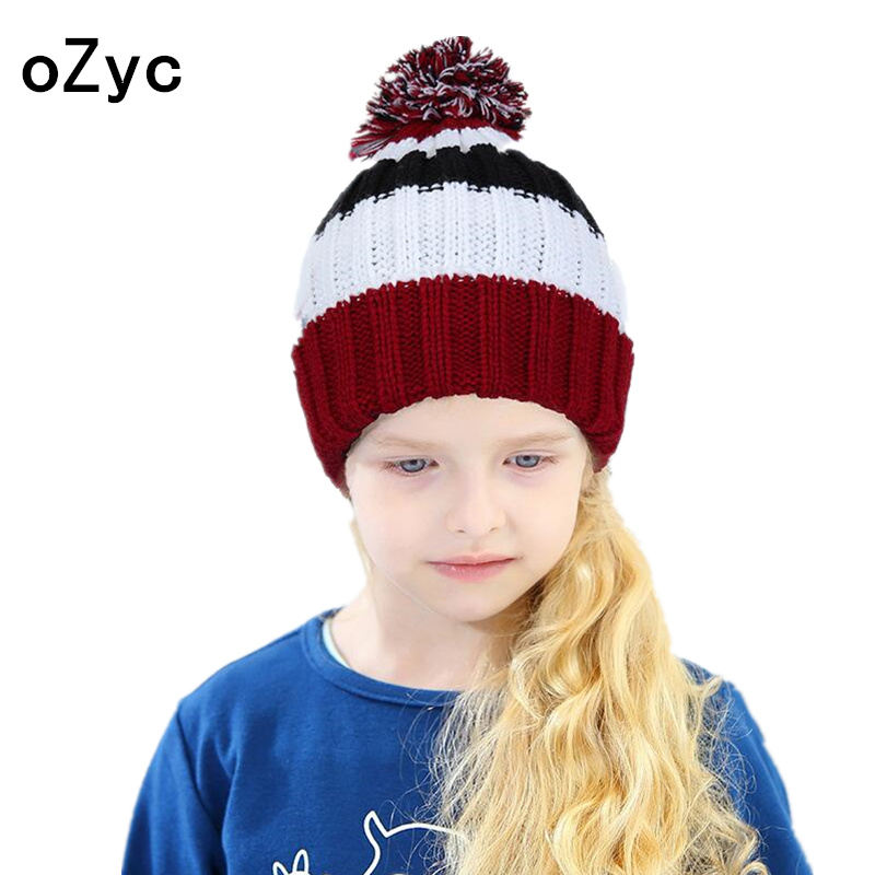 2017 New Winter Knitted Hats Children girl Hats For Children Cap Kids&Adult Skullies Beanies Winter Warm Hat Girl High Quality wholesale boy girl floral beauty skullies colored rhinestone flower style luxury winter hats for children 3 12 year kid beanies