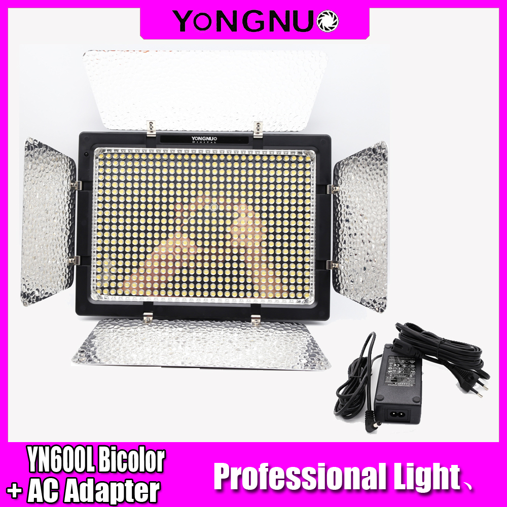 <font><b>YONGNUO</b></font> YN600L <font><b>YN</b></font> <font><b>600</b></font> LED Video Light with AC adapter Single color or Bicolor Adjustable LED Photographic Light for DSLR Camera image