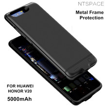 NTSPACE 5000mAh Battery Case For Huawei Honor V20 Metal Frame Anti-drop Backup Power Bank Pack Back Clip Charging