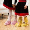 Дождя сапоги для детей Детская Обувь Охватывает Детей Водонепроницаемый Обуви чехол От Дождя Сапоги ботт дочь hiver девушки scarpe ragazzo EUR 25-34