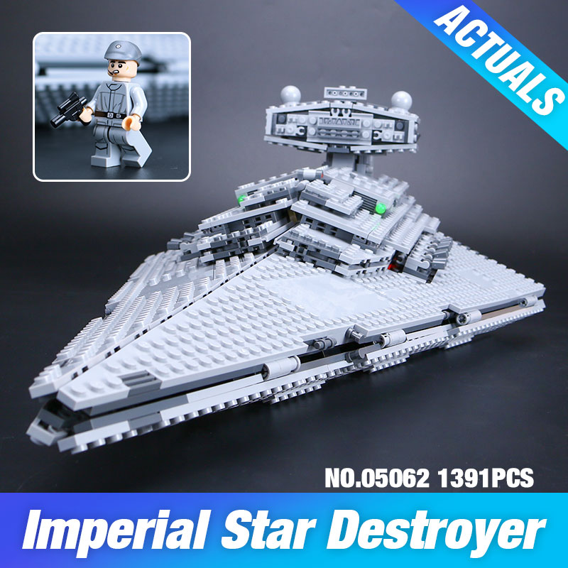 New Lepin 05062 1359pcs Genuine Star War Series The Imperial Star Destroyer Set 75055 Building Blocks
