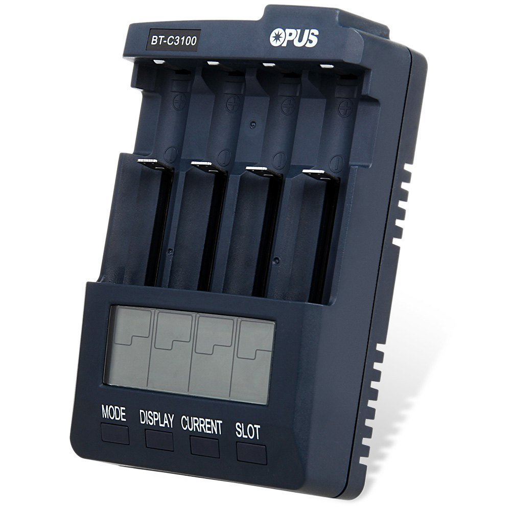 OPUS BC3100 intelligent liquid crystal 57 No 18650 battery charger discharge repair capacity tester