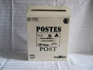 Image 1 - Boîte aux lettres en étain blanc pour journaux