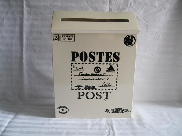 Casella di posta di modo di latta Giornale scatole casella di posta elettronica della scatola di Colore Bianco