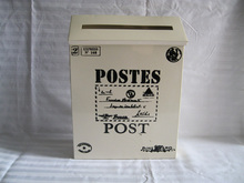 Mailbox fashion tin Newspaper boxes mail box post box White Color