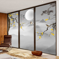 Support Custom Size Static Self adhesive Window Film Decorative Privacy Frosted Glass Stickers Foil Decals Tea Room Bedroom KK72