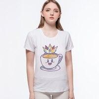 Newest 2017 Funny Creative Coffee Cartoon Food T Shirt Tops Printed T-Shirt Fashion Tee Shirt Tops L9-B13