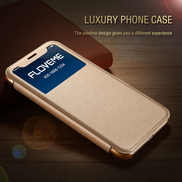 low cost 06de1 4d7a1 US $4.99 |KISSCASE Luxury Flip Window Wallet Case For iPhone X iPhone 8 7  Plus Waterproof Cloth Patterned PU Leather Back Cover Capinhas-in Flip  Cases ...