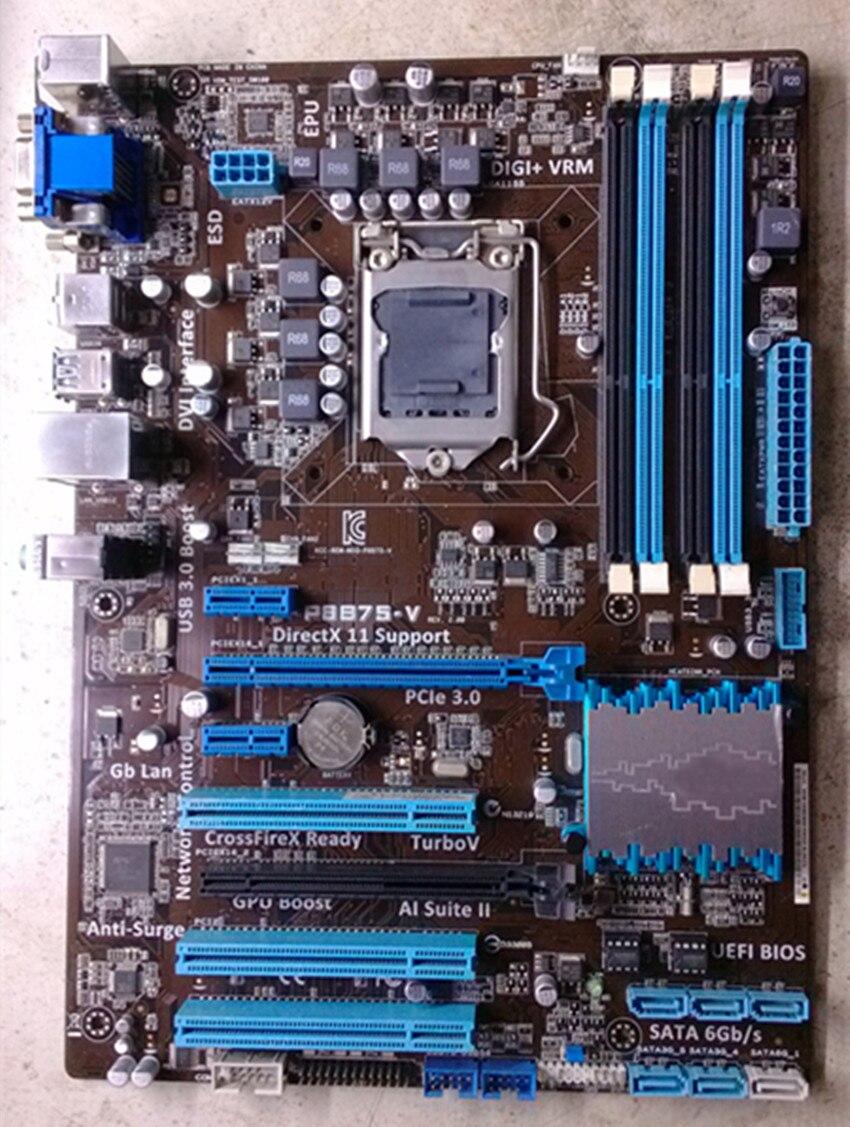 Carte mère De Bureau d'origine pour ASUS P8B75-V DDR3 LGA 1155 pour I3 15 17 CPU SATA III USB3.0 32 GB B75 mère livraison gratuite
