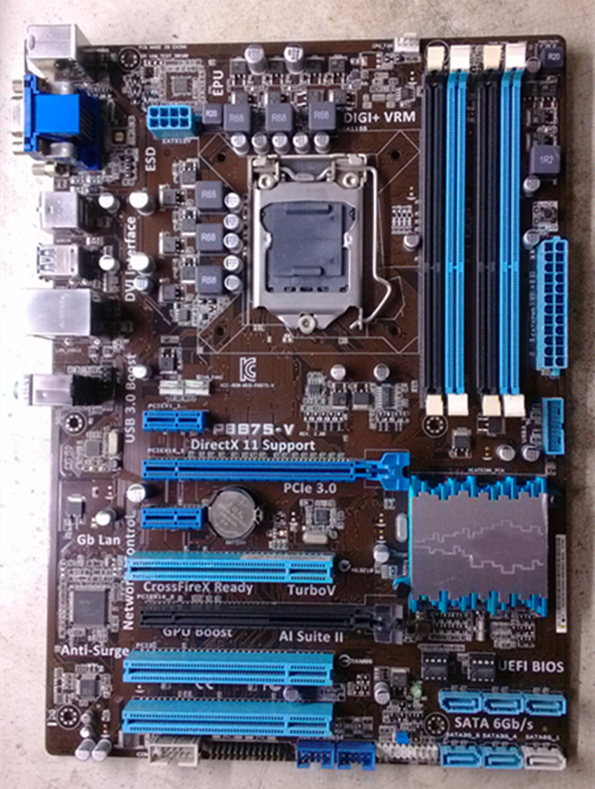 original Desktop motherboard for ASUS P8B75-V DDR3 LGA 1155 for I3 15 17 CPU SATA III USB3.0 32GB B75 motherboard free shipping